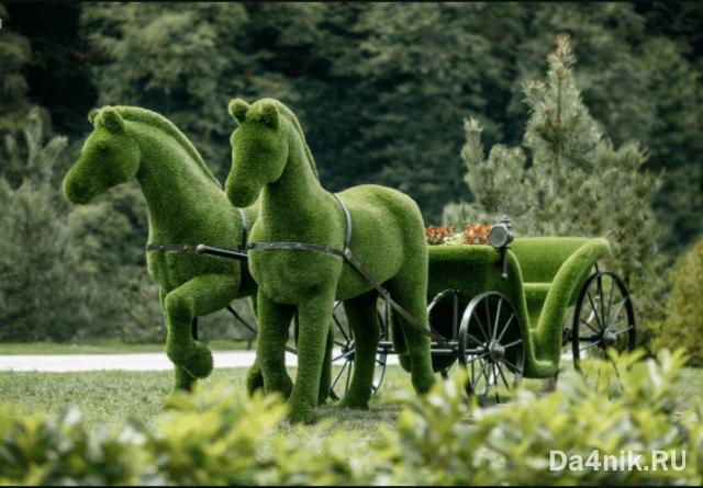 фигуры из искусственного газона