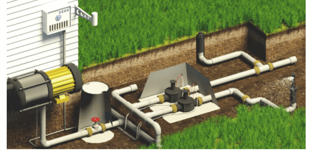 водозабор для полива газона