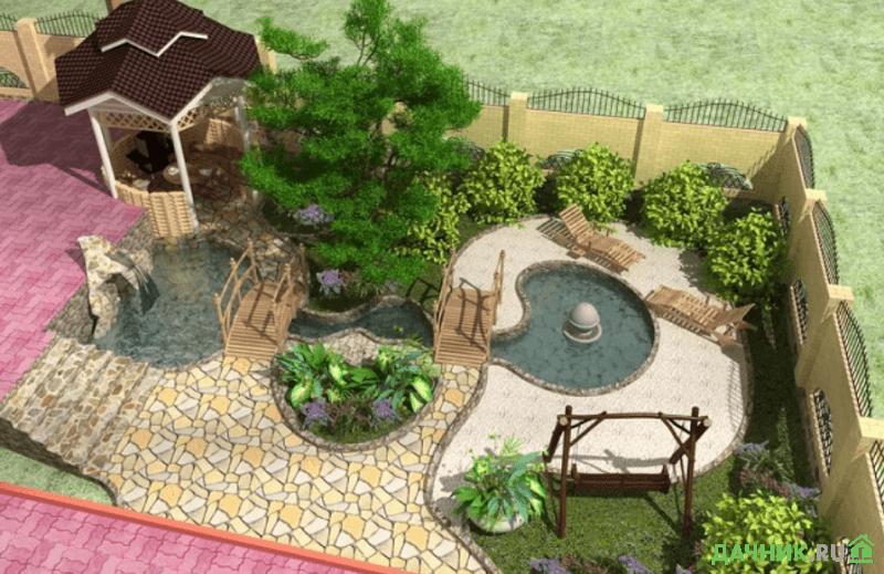 ландшафтный дизайн маленького дворика