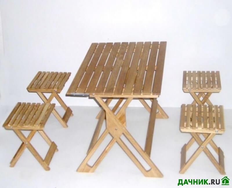 Складной стол и стулья для пикника своими руками
